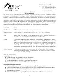Laundry Attendant Resume Sample Best Photos Of Kennel Attendant Resume Kennel Technician Resume 3