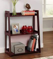 engineered wood ladder shelf