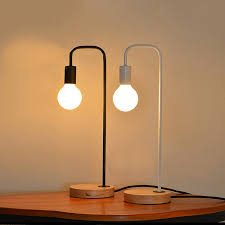 simple table lamp. Unique Table Nordic Modern Simple Table Lampiron Lamp Holder Wood Base Bedside Reading Desk  Bedroom In Simple Lamp I