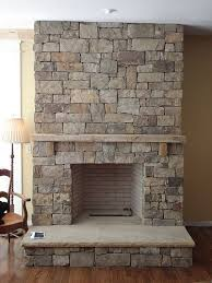 ... fireplace in lovely yellow stone View in gallery ...