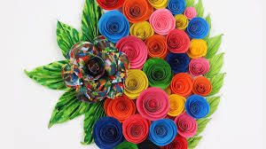 Paper Flower Craft Ideas How To Make Easy Wall Hanging Room Decor Craft Ideas Diy