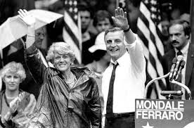 Image result for On July 12, 1984, Geraldine Ferraro becomes the first woman to run for vice president