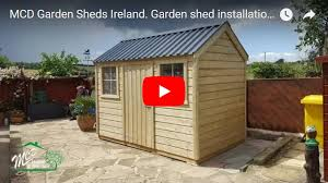 timber garden sheds with metal roof delivery installation