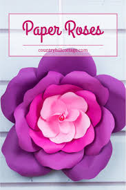 Paper Flower Template Pdf Learn To Make Giant Paper Roses In 5 Easy Steps And Get A Free