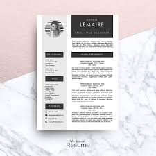Resume In French Resume Template MS Word Sophie Resume Templates Creative Market 18