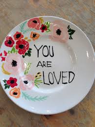 Floral Plate Design Painted Plate Pottery Painting Designs Painted Ceramic