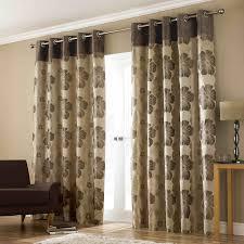 modern window curtain with flower design
