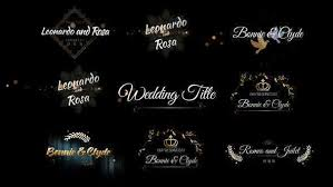 Wedding Title Template Download Videohive Six Beautiful Wedding Title Share Is Life