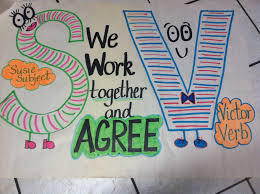 Subject And Verb Agreement Anchor Chart Subject Verb Agreement Anchor Chart Students Will Write