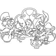 Kleurplaten Van Alice In Wonderland