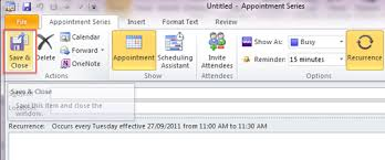 Appointment Calander Create A Recurring Appointment Outlook 2010 And 2013 University
