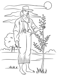 Small Picture Johnny Appleseed coloring page Free Printable Coloring Pages