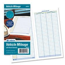 Mileage Book Adams Afr10 Vehicle Mileage Book