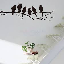 birds on branch silhouette wall decal birds on branch silhouette wall sticker