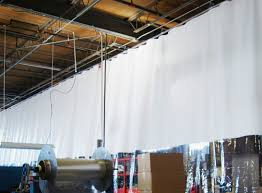 ceiling mounted track suspended curtain systems