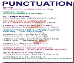 Puncuation Guide How To Use Punctuation Marks Jas School
