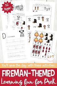 Community Helpers Chart Free Firefighter Printables For Preschool And Kindergarten