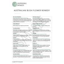 Bach Flower Remedies Chart Dowsing Charts