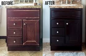 learn how to use gel stain to easily update cabinets without any heavy sanding or stripping the step by step tutorial and show you how to update