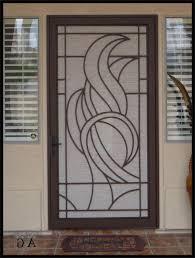 modern security screen doors. Simple Contemporary Metal Security Screen Door With Arch Iron . Modern Doors F