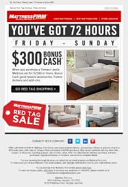 A Sale Email Thatu0027s All About Urgency Informing and creating urgency  around Mattress Firmu0027s