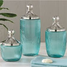 Bathroom Canister Set Amazing Glass Kitchen Canisters Idea Wigandia Bedroom Collection Smart