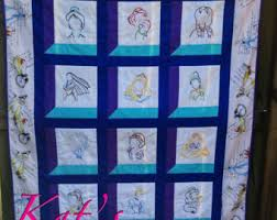 Disney Princess Inspired Applique Quilt Pattern Instant & Disney Princesses Quilt Custom Made-to-Order Disney Princess Embroidery  Quilt Adamdwight.com