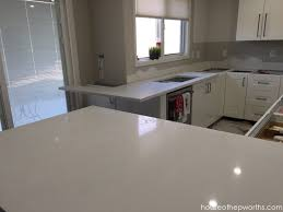 here s our sink and wrap around counter being slid into place i am thrilled that they were able to do the mini countertop on the same slab and reduce the