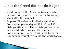 Image result for Photo of Nicene Creed