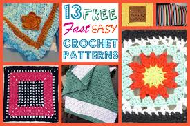 Quick And Easy Crochet Patterns Stunning 48 Free Fast Easy Crochet Patterns AllFreeCrochetAfghanPatterns