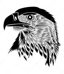 Orel Bělohlavý Tisk Na Trička Tetování Prvek Stock Vektor