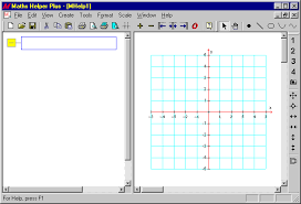 mhp getting started when you first run maths helper plus you will see a blank screen split into two parts the text view on the left and the graph view on the right