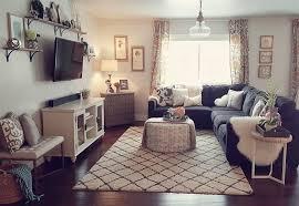 dark gray couch light gray walls