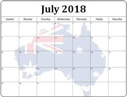 July 2018 Holiday Calendar For Australia Max Calendars