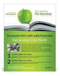 Apple Flyer Templates Green Apple Book Flyer Template Design Id 0000000667