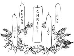 Small Picture Advent coloring pages