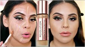 new makeup revolution conceal define foundation first impression wear test juicyjas
