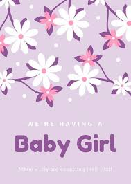 Announcement For Baby Girl Customize 49 Gender Reveal Announcement Templates Online Canva