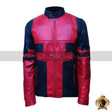 ryan reynolds deadpool red leather jacket