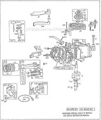 briggs and stratton 92500 series parts list and diagram Briggs and Stratton 18 HP Wiring Diagram briggs and stratton 92500 series parts list and diagram ereplacementparts com