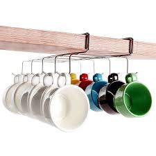 Coffee Cup Rack Under Cabinet Shop Amazoncom Mug Hooks
