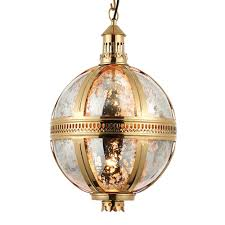brass globe pendant light. Vienna Medium Solid Brass And Mercury Glass Globe Pendant Light L