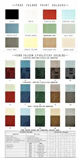 1960 Ford Xk Falcon Colour Chart