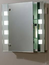 Illuminated Shaver Socket Bathroom Mirror Cabinet EL MILOS