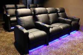 interior media room seating