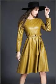 <b>KoHuiJoo</b> New Long Sleeve <b>Women</b> Leather Dress 2017 Autumn ...