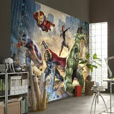 Marvel Wallpaper For Bedroom Avengers Street Rage Wallpaper Great Kidsbedrooms The Children