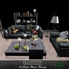 Second Life Marketplace - [[Le'Caps]] | Myra Full Bento Living Set ...