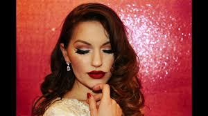 old hollywood vine glam makeup tutorial