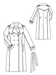 Trench Coat Pattern Cool Piped Trench Coat 4848 488 Sewing Patterns BurdaStyle